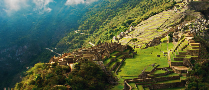 Setting of stunning beauty Machu Picchu